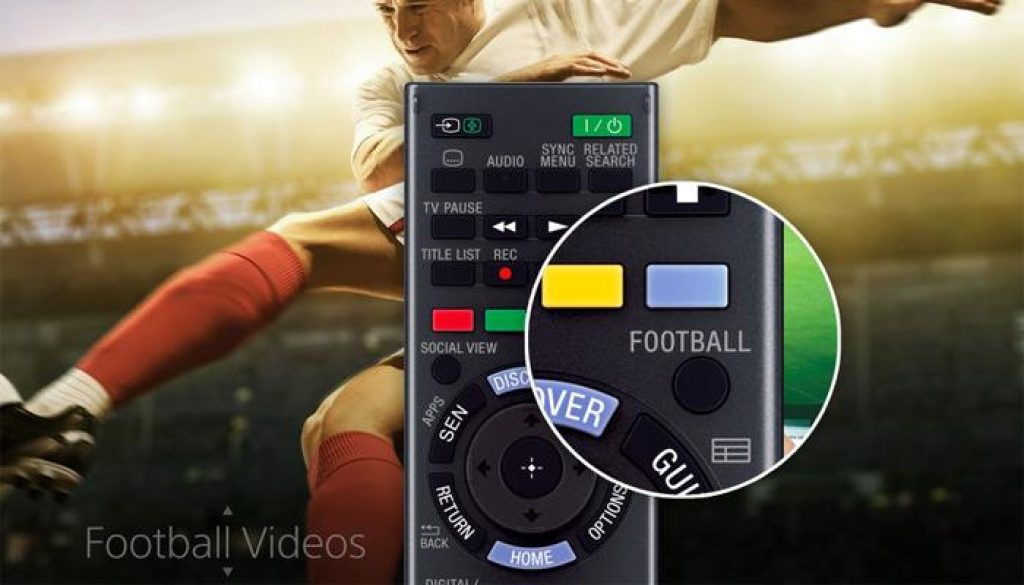 Live Football trên tivi Sony