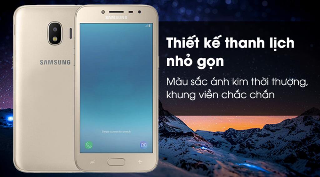 Samsung Galaxy J2 Pro có thiết kế thanh lịch