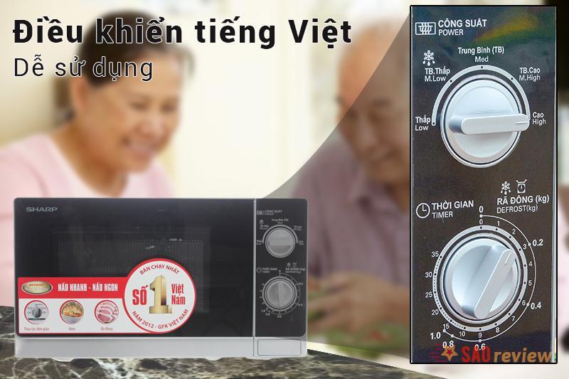 Giao diện tiếng Việt tiện lợi