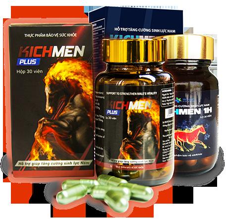Kichmen Plus giúp tăng sự hưng phấn, cương cứng và cực khoái