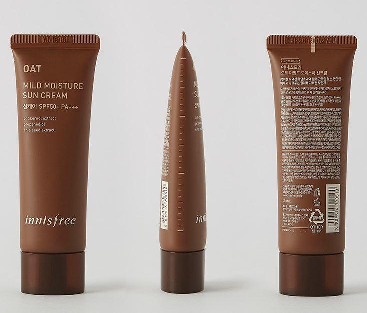 Innisfree Oat Mild Moisture Sun Cream SPF 50 + PA +++ dành cho da khô
