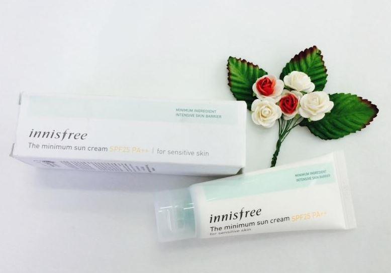 Kem chống nắng The Minium Sun Cream SPF25 PA ++ cho da nhạy cảm