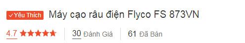 Máy cạo râu Flyco FS 873 VN nhận tới 4.7/5 điểm